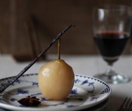 换个方式吃梨----香草糖浆洋梨