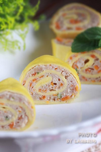 更加营养美味的鸡蛋吃法----鸡蛋肉卷