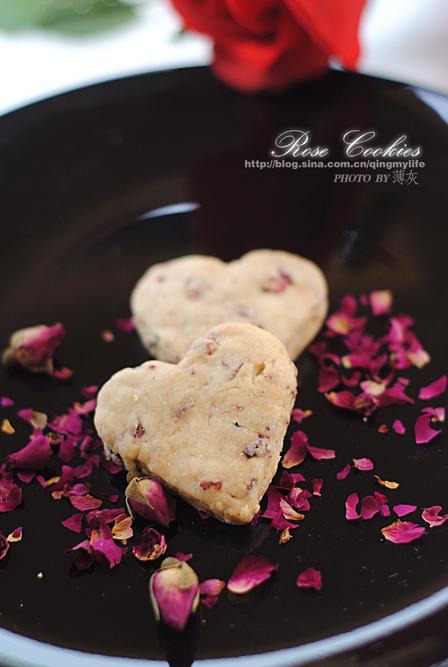 【玫瑰心形饼干】七夕让玫瑰花甜在心里