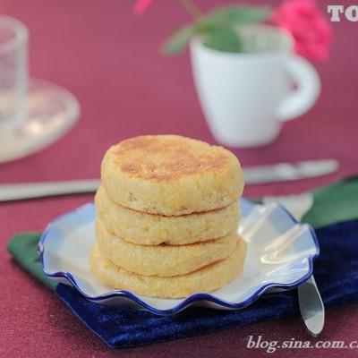 用古人常当主食的糯黄米做一款平底锅米饼