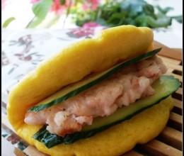 早起五分钟就可以吃上健康营养的早餐——虾饼荷叶堡