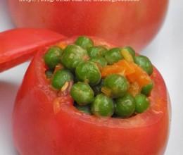 视觉和味觉上给人双重享受的养胃菜—青豆酿番茄