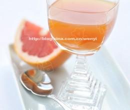素食30天之第2天-----葡萄柚蜂蜜红茶(冷热均可)