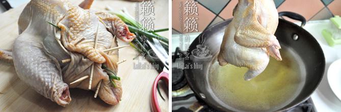 【葱香油淋鸡】巧用一把葱,烧出一只奇香鸡!