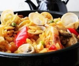 煮一锅饭可以欢乐一家人——鲜香四溢【石锅海鲜饭】