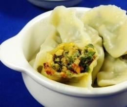 极致鲜美的馅料——【南瓜藤叶水饺】