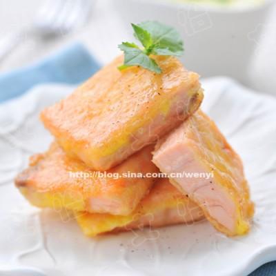 三文鱼的中国吃法儿-------锅塌三文鱼(含多种三文鱼的做法)