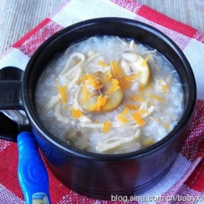 秋季最应景的养生粥——【栗子鸡丝粥】