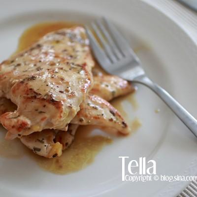 5分钟做西餐主菜:煎鸡胸佐黄芥末蜂蜜酱汁