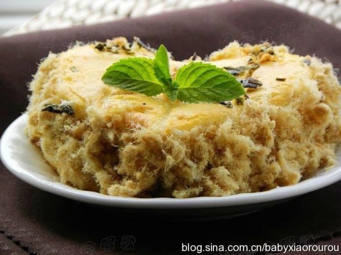 多多放料,吃的更爽快——【葱香海苔肉松蛋糕】