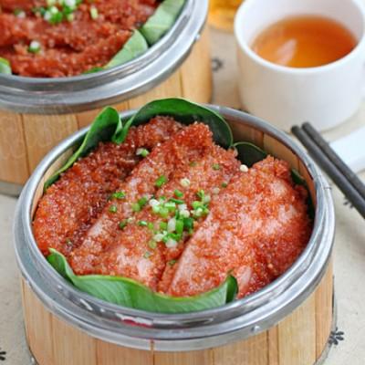 """湖北传统名菜""""沔阳三蒸""""之一南乳粉蒸肉"""