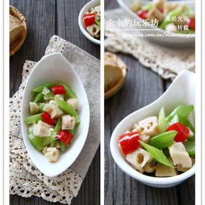 三效合一,营养保健减肥菜,西芹炒莲藕