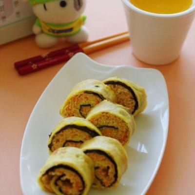 用简单小幸福唤醒清晨——阳光早餐之海苔鸡肉蛋卷