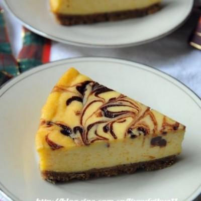 欲罢不能的高热量----大理石南瓜巧克力乳酪蛋糕