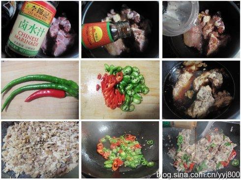白吉馍加辣炒肉:肉夹馍