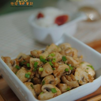 5分钟健康美味下饭菜蒜香蚝油蘑菇