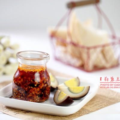 图组详解如何做出一碗过冬的香辣酱———蒜蓉豆豉花生辣酱
