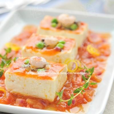 素食30天之第22天------茄汁酿豆腐(含18道豆腐的做法)