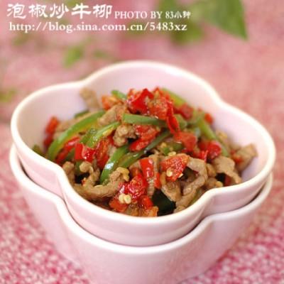 炒好牛肉的关键一步:【剁椒小炒牛柳】
