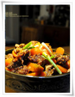 【豇豆红烧肉】逢年过节总少不了一道浓油赤酱的传统菜!