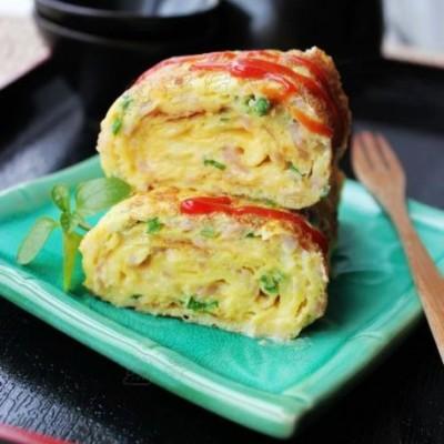 最豪爽过瘾的鸡蛋吃法——【芝士厚蛋烧】