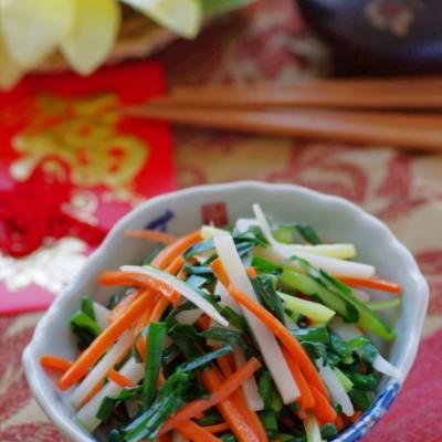 江浙一带新年宴客必备的素菜——寓意勤劳长久的炒春盘