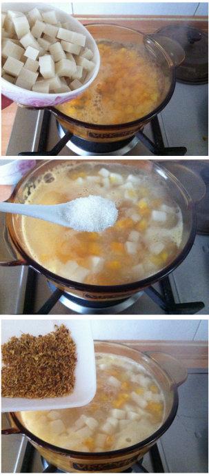 解腻滋润寓意年年高的--桂花红薯年糕甜汤
