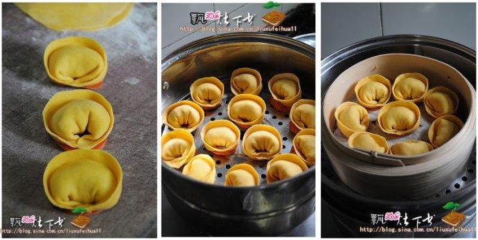 三重祝福寓意最应景的新年主食----金元宝白菜蒸饺