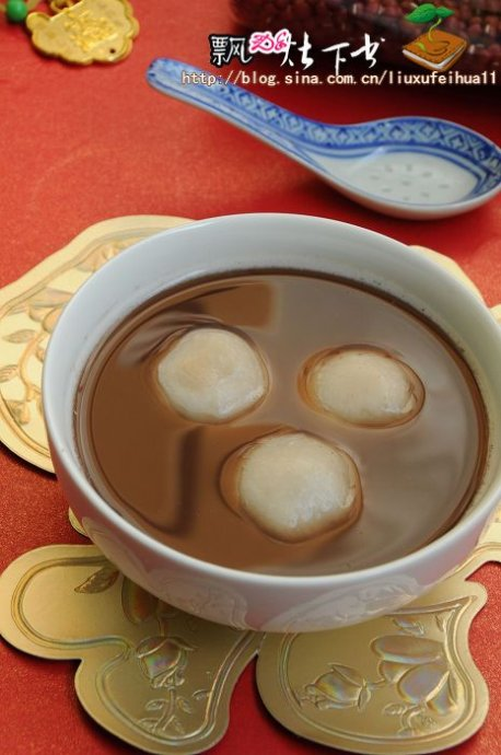 广式糖水与江南汤圆的美妙碰撞----红薯姜糖水紫薯黑洋酥汤圆;红豆沙枣泥汤圆