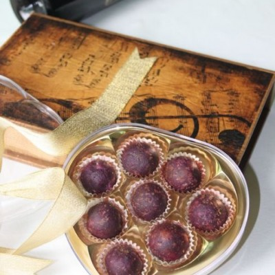 【紫薯芝心丸子】情人节甜点:中西合璧的点心简单一包装就很有范儿