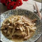 让学生益智健脑的一道菜肴——肉丝烧金针菇