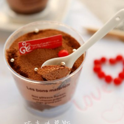 有让人触摸幸福力量的甜品——巧克力慕斯杯(情人节甜品)