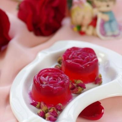 一个亮点令情人节永生难忘——晶莹璀璨的水晶玫瑰布丁