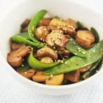 推薦一道適合春天吃的菜--蠔汁口蘑荷蘭豆(適合帶飯)