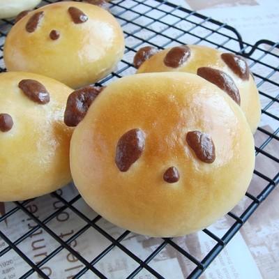 超可爱熊猫面包