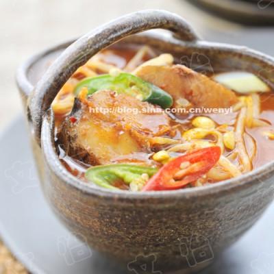 韩餐家常的一道香辣下饭菜----鳕鱼炖黄豆芽(推荐喜欢韩餐)
