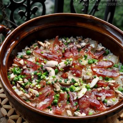 【腊味沙锅饭】香喷喷的懒人饭,家庭DIY最大优势在哪里?
