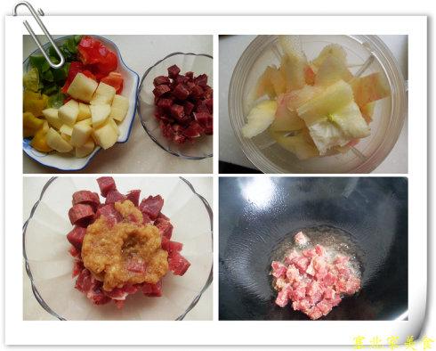 春季养生要多吃富含钾的水果——苹果肉丁
