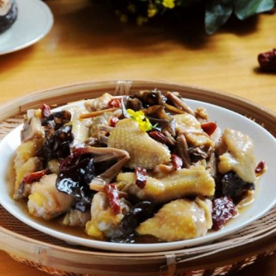 十五分钟蒸出美味健康经典粤菜--金针云耳蒸滑鸡(22道鸡的花样料理)