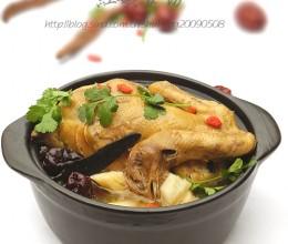 紫灵芝炖鸡
