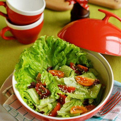 """百试百灵的私家招牌""""甜蜜蜜""""开胃沙拉--芝麻蔬菜沙拉(零难度新手必学)"""