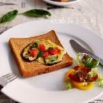 五一小長假的絕妙營養早餐——奶酪焗茄子土司