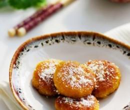 简单四步自制健康版南瓜饼——甜丝丝的椰香燕麦南瓜饼