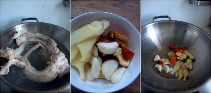 不会用老式高压锅的都是耍流氓的伪美食主义---陈皮朝天椒焖牛蹄筋