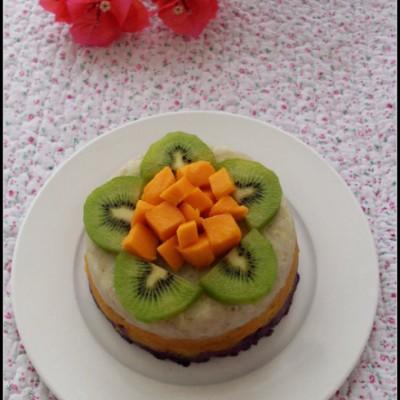 潮妈育儿半月谈の美食达人秀——三色薯泥蛋糕