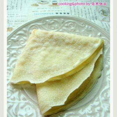 平底锅轻松玩转极富法国特色的薄煎饼―樱桃奶油可丽饼