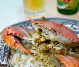 12元为全家做海鲜大餐-南洋风味葱姜海蟹
