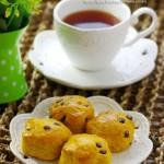 正统英式下午茶不可少的茶点——如花绽放的南瓜巧克力豆司康