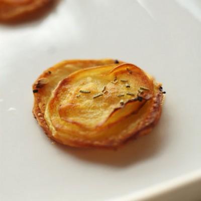 让垃圾食品转化为健康休闲小食------迷你千层土豆片