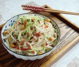 煮面条不溢锅的小窍门:麻辣鲜香的家常版鸡丝凉面